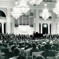 Празднование юбилея П.А. Серебрякова в Ленинградской филармонии 1 марта 1969, общий вид зала. Фотограф — Н. А. Науменков.