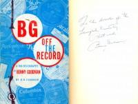 Дарительная надпись Б. Гудмэна П. А. Серебрякову. 1962.