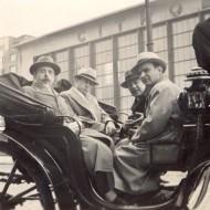 Слева направо: С. Фейнберг, И. Михновский, Козловский (советский консул в Брюсселе), П.Серебряков. Брюссель, 1938